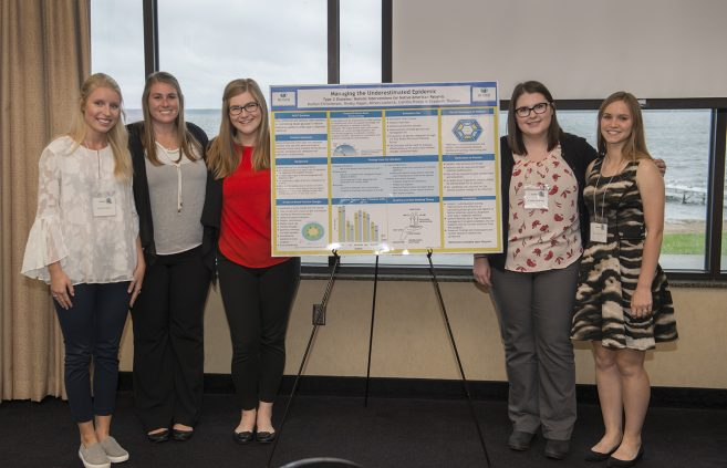 Bemidji State University students present their research at the Modeling and Role-Modeling International Conference held in Bemidji.