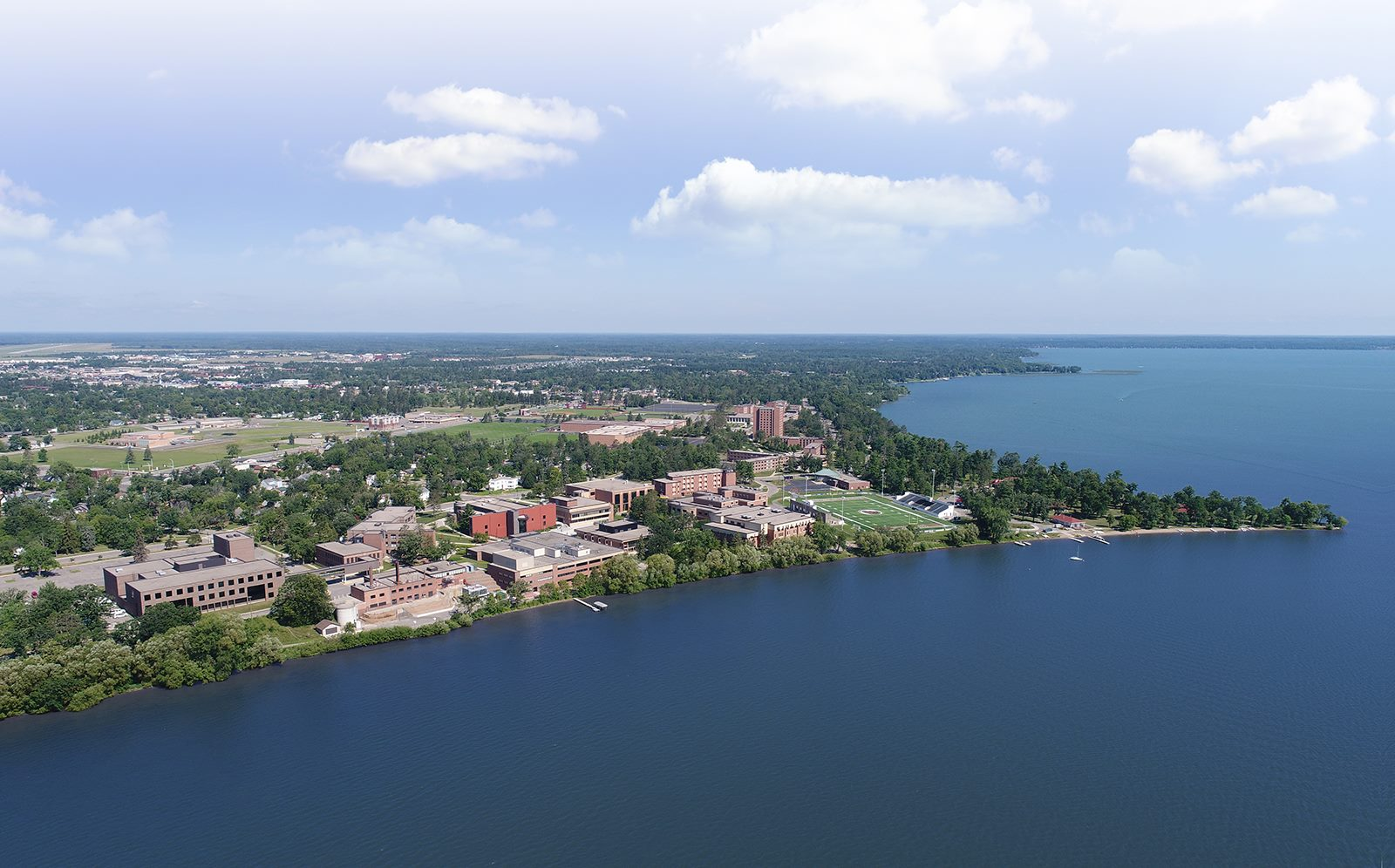Bemidji State on the shores of Lake Bemidji