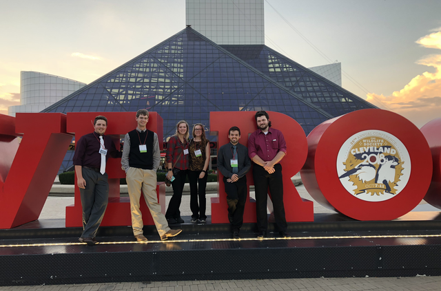 six Bemidji State University students studying wildlife biology attended The Wildlife Society's 25th Annual Conference in Cleveland, Ohio.