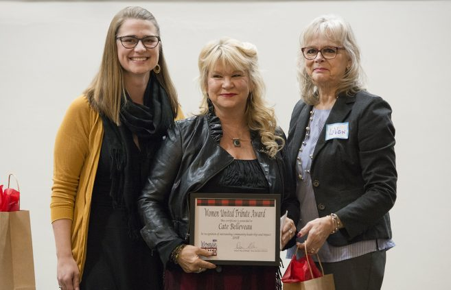 Cate Belleveau, STEM instructor at Leech Lake Tribal College, received a Women United Tribute Award in recognition of outstanding community leadership and impact.