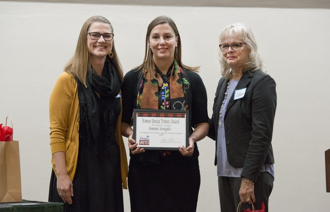 Simone Senogles, development coordinator at the Indigenous Environmental Network and BSU alum, received a Women United Tribute Award in recognition of outstanding community leadership and impact.