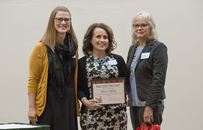 Rebecca Hoffman, Bemidji State assistant professor of social work received a Women United Tribute Award in recognition of outstanding community leadership and impact.