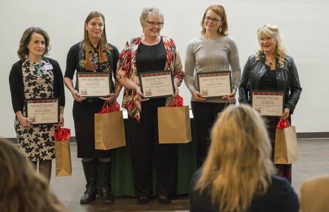 Bemidji Women United Tribute Award recipients.
