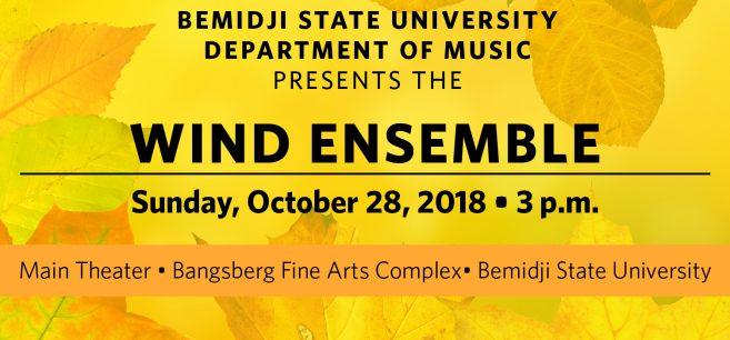 Wind Ensemble, Oct. 28, 2018.