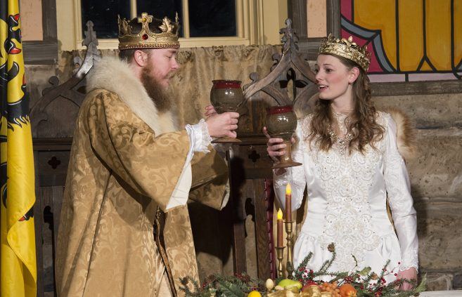 50th Annual Madrigal Dinner king and queen, BSU seniors Ian Trosen and Lindsay Marketon
