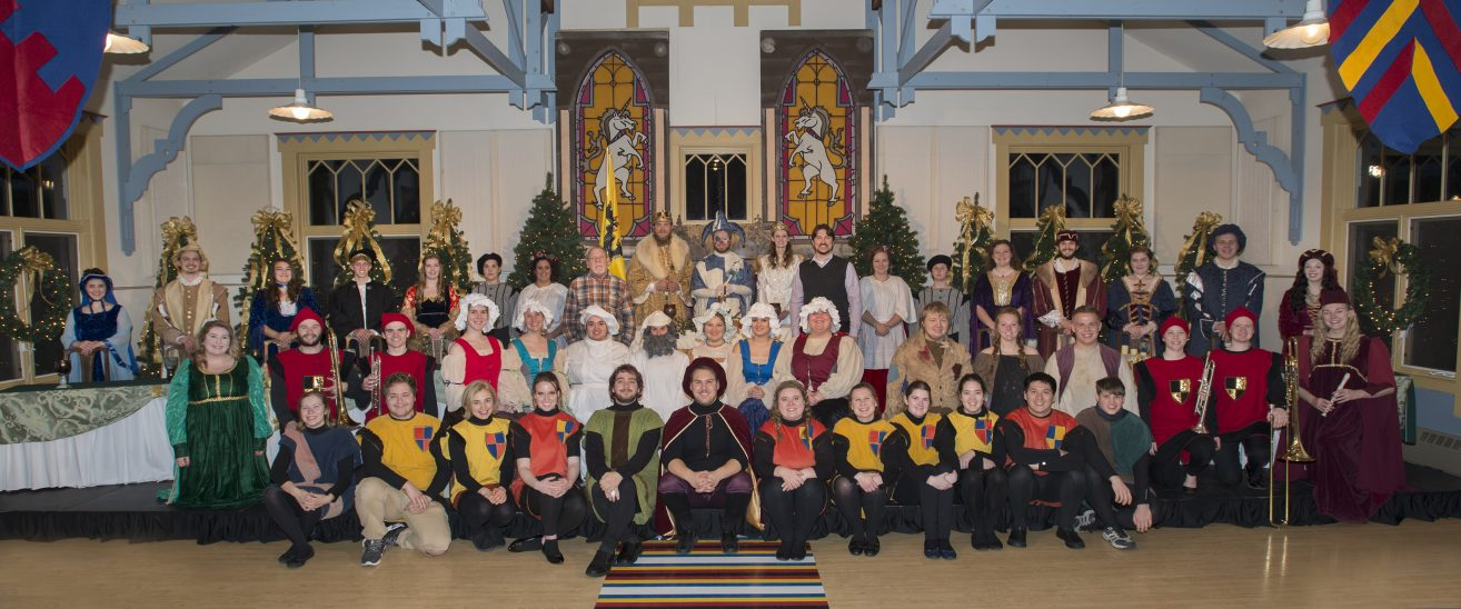 50th Annual Madrigal Dinner rehearsal group photo