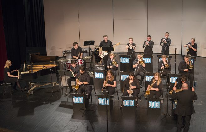 Blue Ice Jazz Band group performance photo.