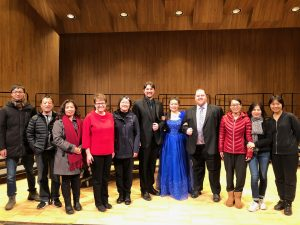 The NorthStar visiting scholars with music faculty and President Hensrud after a choral performance on campus.