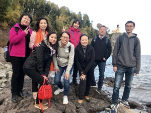 The NorthStar visiting scholars at Split Rock State Park on the North Shore.