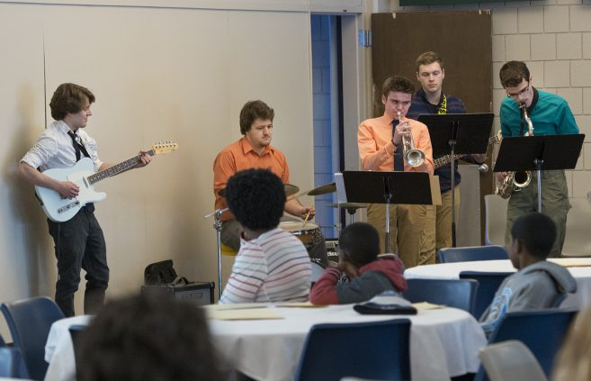 The BSU Jazz band performing in honor of the the life and legacy of Dr. Martin Luther King Jr.