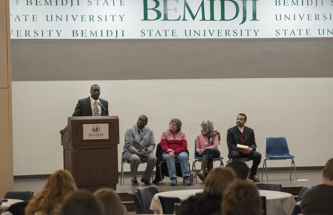 "Assistant Professor of Business Administration, Gabriel Warren, reflecting Dr. Martin Luther King Jr.'s ""Other America."""