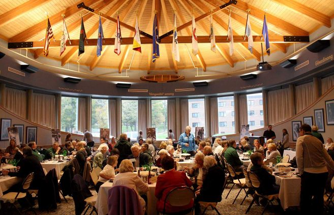 Nearly 100 alumni, family and friends attended the Oct. 6 kickoff event