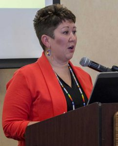 Dr. Misty Wilkie gave a Sept. 19 keynote address on BSU's nursing program.