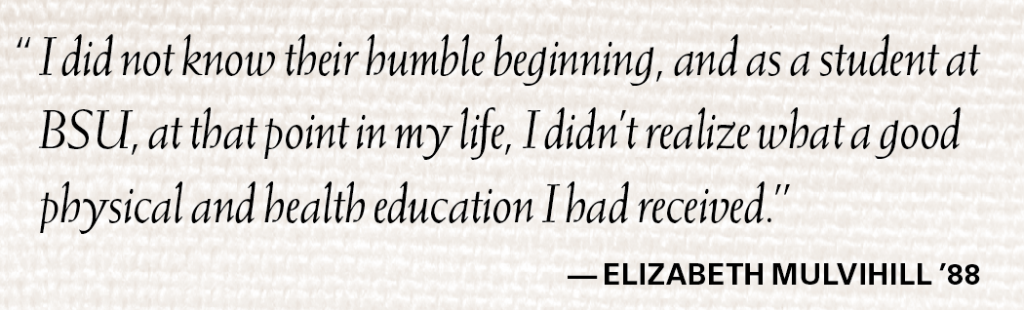 Pull quote from Elizabeth Mulvihill '88