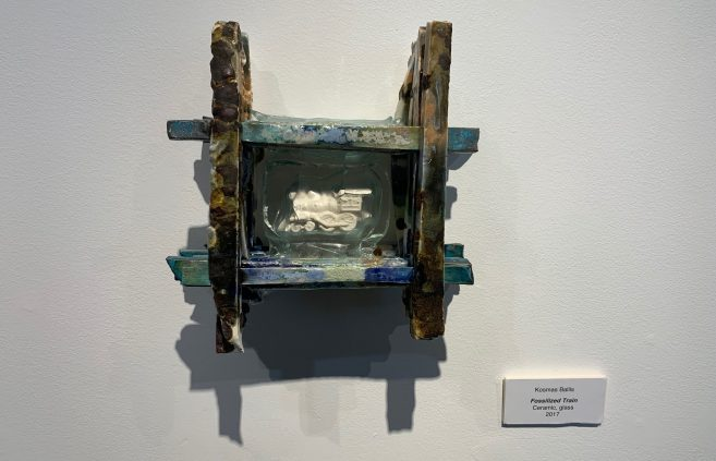 """Fossilized Train"" by Kosmas Ballis."