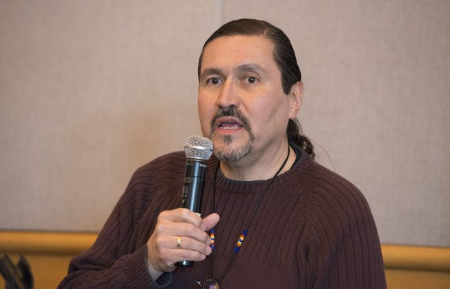 Joe Beaudreau from Sanford Health speaking at the Native American Health panel discussion.