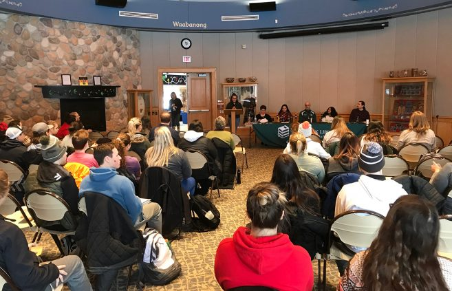 Attendees at the Native American Health panel discussion.