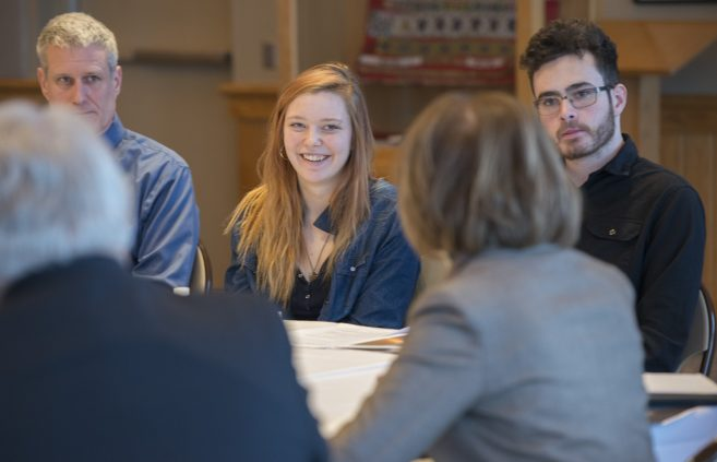 BSU students address U.S. Senator Tina Smith (D-MN)