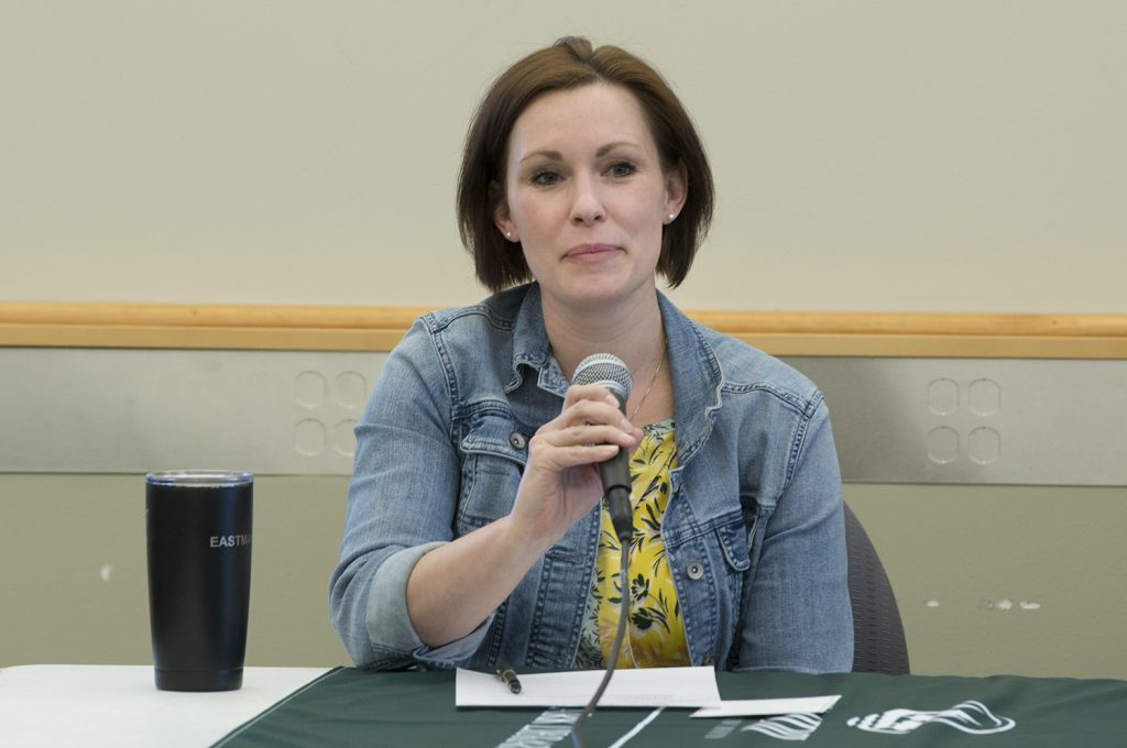 Maria Eastman, library technician.