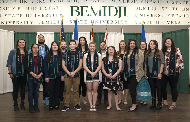 Native American graduates were presented with stoles at the 39th Annual American Indian Students Recognition Banquet.