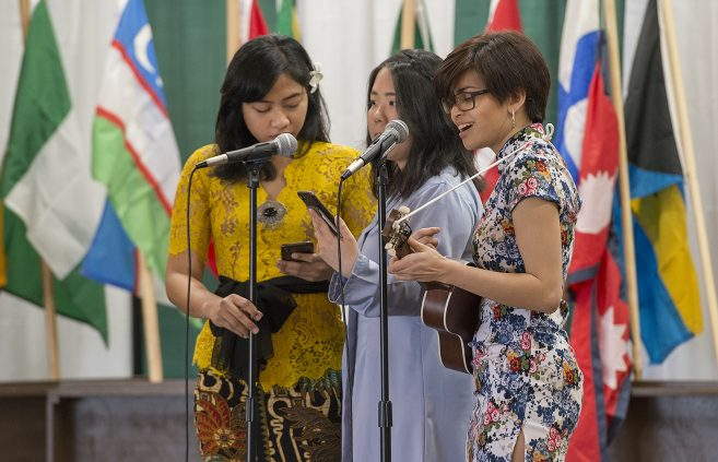 Students performed various song, dance and spoken word performances to celebrate the cultural heritage of the university's diverse student body.