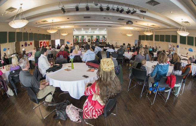 Attendees filled the Beaux Arts Ballroom on BSU's campus.