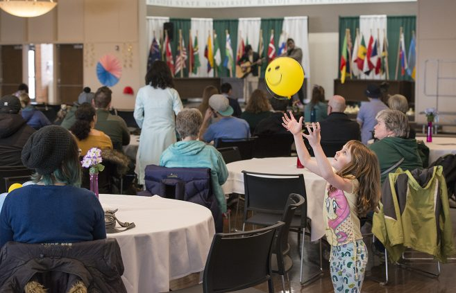 Attendees of all ages celebrated the diversity of BSU's student body.
