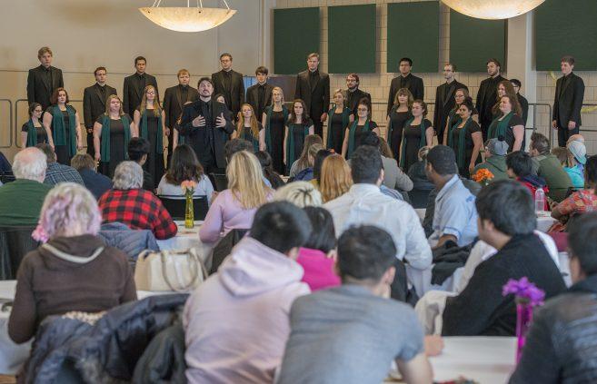 The Bemidji State University Choir performed at the celebration.