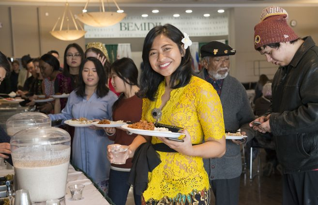 Attendees enjoyed a meal featuring food from across the globe.