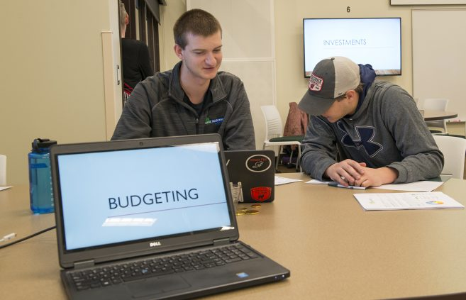 Student mentors discussed the basics of budgeting with their peers.