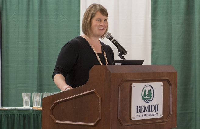 Nina Johnson, director of the Hobson Memorial Union, had the honor of announcing this year's awards.
