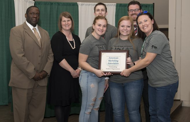 Bemidji State's American Marketing Association revived the Outstanding Student Organization Award.