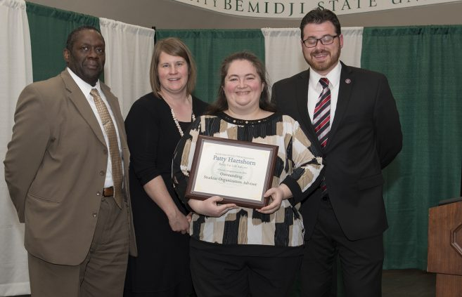 Patty Hartshorn, Relay for Life advisor, was recognized as the Outstanding Student Organization Advisor for 2019.