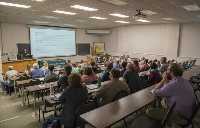 Audience attending Colleen Deel's honors lecture.