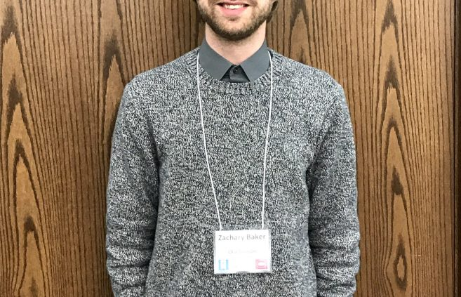 BSU student Zachary Baker at the Minnesota State Undergraduate Scholars Conference.