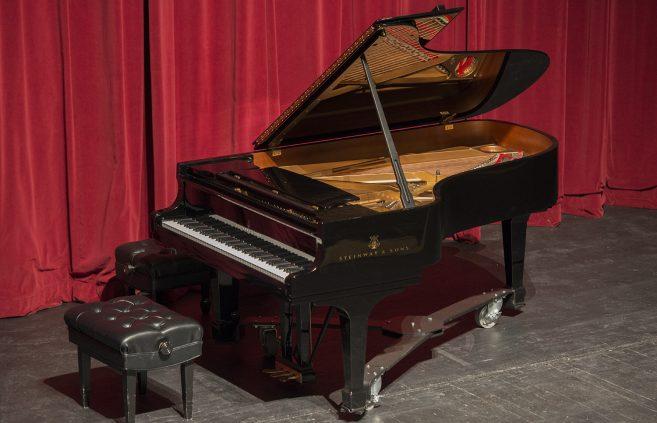 Steinway Model B grand piano.