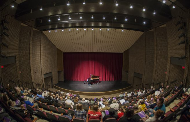 The Main Theatre in the Bangsburg Fine Arts Complex eager for the show to begin.