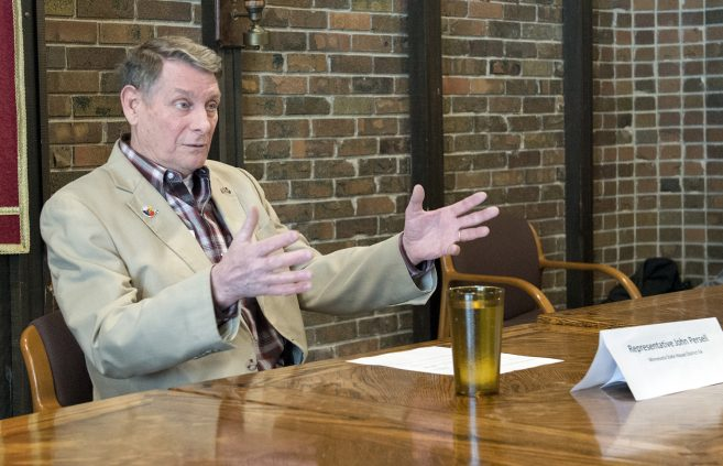 John Persell, politician and member of the Minnesota House of Representatives, visited BSU's campus on March 22nd and met with students and faculty at a town hall style event.