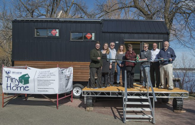 BSU Students, faculty and staff have all played a significant role in the tiny house construction.