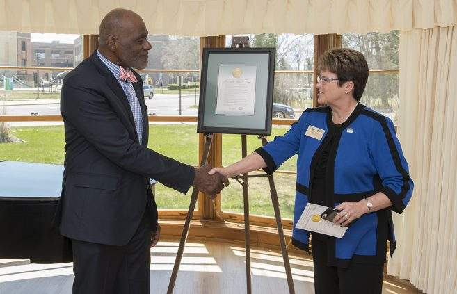 Alan Page was recognized as BSU's 2019 Distinguished Minnesotan.