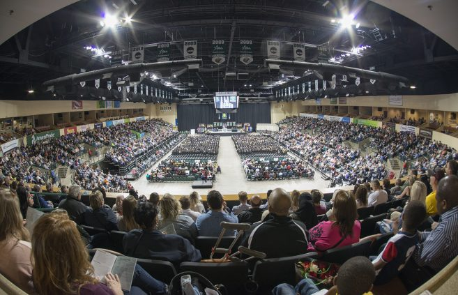 The Bemidji Sanford Center was filled with graduates and those who have supported them on their educational journey.