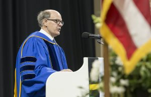 George Soule, a trustee of the Minnesota State Colleges and Universities system, congratulated graduates on behalf of the Board of Trustees, Chancellor Devinder Malhotra and the system's 16,000 faculty and staff members at its 54 campuses.