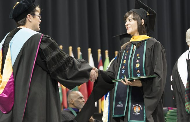 Ashley Locklear, received her master's degree in environmental studies.