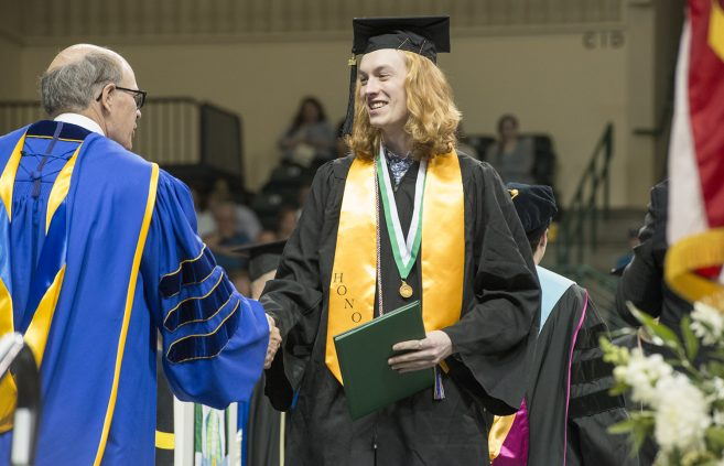 Graduates received their degrees as part of BSU's 100th class.
