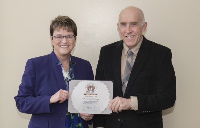 Dr. Pat Donnay, professor of political science, received the Excellence in Teaching Award.