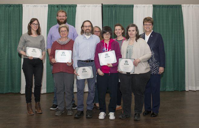 Bemidji State University A.C. Clark Library staff received the Spirit of BSU Award (team).