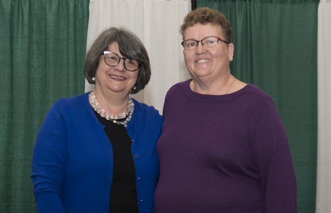 Visnja Remata-Bilanovic, customer service, retired with 17 years of service. Victoria Ruzicka, office and administrative specialist intermediate, Minnesota State Advanced Manufacturing Center of Excellence, retired with 18 years of service.
