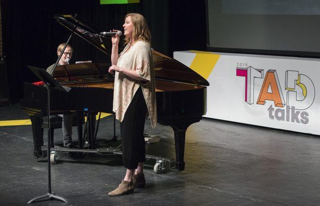 Daniel Will and Mattea Elhard performing at the 2019 TAD Talks.