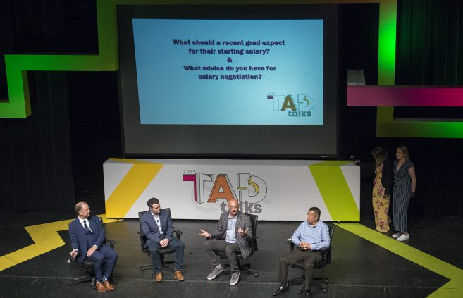 Panel discussion with design experts at the 2019 TAD Talks.