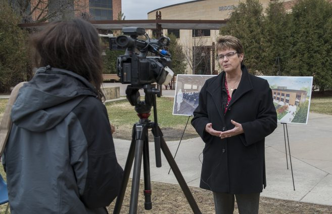 President Faith C. Hensrud was interviewed by Lakeland Public Television after the event.